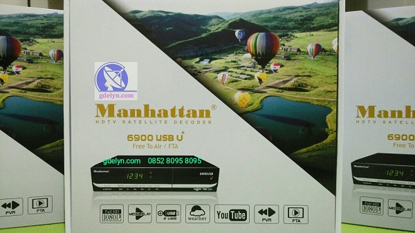 Receiver HD,Receiver PowerVu,Manhattan USB6900 U+;