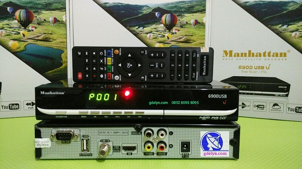 Receiver Parabola,PowerVU Autoroll ,Manhattan USB6900;