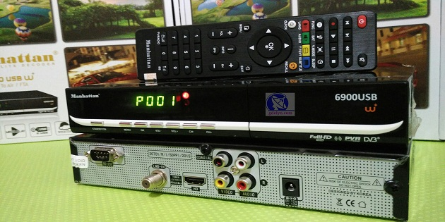 Receiver Parabola Murah, Manhattan USB6900 W+,Receiver PowerVU;