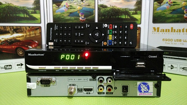 Receiver Parabola murah,receiver PowerVU,Manhattan USB6900 W+;